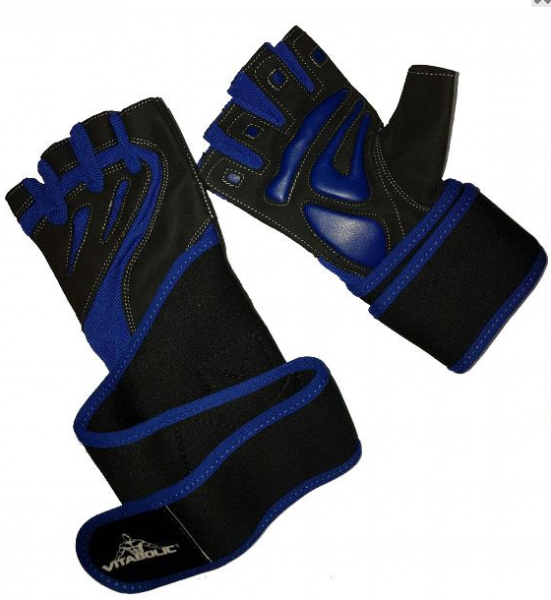 Handschuhe Schwarz/Blau